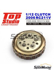 Top Studio: Clutch 1/12 scale - Honda RC211V 2006 - CNC metal parts, photo-etched parts, resin parts and assembly instructions - for Tamiya references TAM14106, 14106, TAM14108 and 14108
