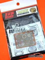 Top Studio: Clutch 1/12 scale - Kawasaki Ninja ZX-RR 2006 - photo-etched parts, resin parts and assembly instructions - for Tamiya kit TAM14109