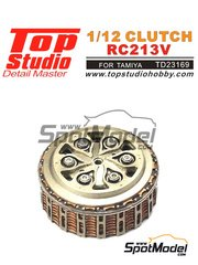 Top Studio: Clutch 1/12 scale - Honda RC213V - photo-etched parts, resin parts and assembly instructions - for Tamiya references TAM14130 and 14130