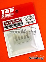 Top Studio: Footpeg 1/12 scale - Honda NSR500 1994, 1995, 1996, 1997, 1998, 1999, 2000, 2001 and 2002 - resin parts