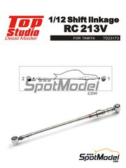 Top Studio: Shift linkage 1/12 scale - Honda RC213V - resin parts and turned metal parts - for Tamiya reference TAM14130
