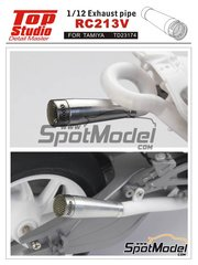 Top Studio: Exhaust 1/12 scale - Honda RC213V - photo-etched parts, resin parts, turned metal parts and other materials - for Tamiya references TAM14130 and 14130