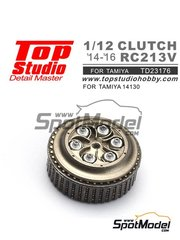 Top Studio: Clutch 1/12 scale - Honda RC213V 2014, 2015 and 2016 - photo-etched parts, resin parts and assembly instructions - for Tamiya references TAM14130 and 14130