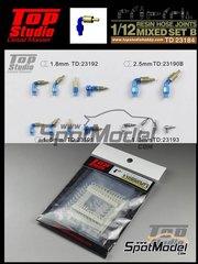 Top Studio: Hose joints 1/12 scale - Hose joints mix - resin parts and assembly instructions