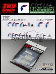 Top Studio: Hose joints 1/20 scale - Hose joints mix - resin parts and assembly instructions