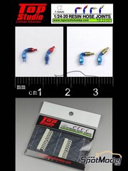 Top Studio: Hose joints 1/20 scale - Hose joints 1.5mm - resin parts