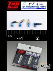 Top Studio: Hose joints 1/20 scale - Hose joints 1.1mm - resin parts