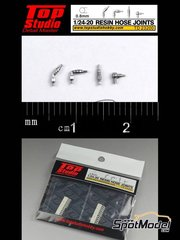 Top Studio: Hose joints 1/20 scale - Hose joints 0.8mm - resin parts