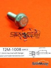 Tuner Model Manufactory: Detalle - Tuerca hexagonal con reborde de 1.0 mm - 20 unidades