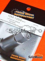 Tuner Model Manufactory: Detalle escala 1/24 - válvula de inflado - 4 unidades