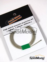 Tuner Model Manufactory: Detalle - Cable metalico trenzado imitando a latiguillos blindados de 1.5x500mm
