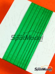 Tuner Model Manufactory: Detail - Material for seat belts - 500x2mm and 500x3mm - green