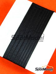 Tuner Model Manufactory: Detail - Material for seat belts - 500x2mm and 500x3mm - black