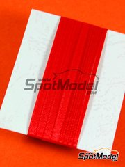 Tuner Model Manufactory: Detail - Material for seat belts - 500x2mm and 500x3mm - red color