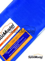 Tuner Model Manufactory: Detail - Adhesive seat belt cloth 145 x 85 mm blue color - small pattern - 2mm, 2.5mm, 3 mm