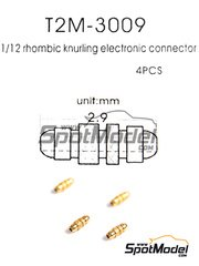 Tuner Model Manufactory: Detail - Rhombic knurling electronic connector - 4 units