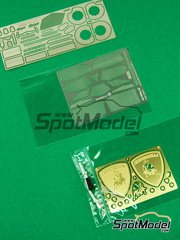 Tuner Model Manufactory: Photo-etched parts 1/24 scale - Lamborghini Aventador LP700-4 - photo-etched parts and metal parts - for Aoshima reference 00142