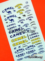 Virages: Logotipos escala 1/43 - Camel - calcas de agua