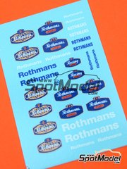 Virages: Logotypes 1/43 scale - Rothmans - water slide decals