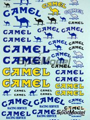 Virages: Diecast 1/24 scale - Camel - water slide decals