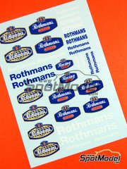 Virages: Logotypes 1/24 scale - Rothmans - water slide decals
