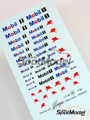 Virages: Logotypes - Mobil1 - water slide decals