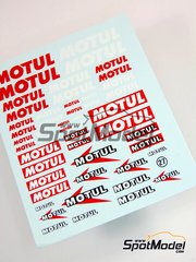 Virages: Logotypes - Motul - water slide decals