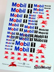 Virages: Logotypes 1/24 scale - Mobil - water slide decals