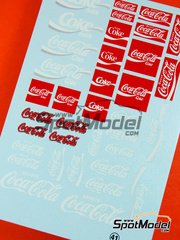 Virages: Logotypes 1/24 scale - Coca Cola - water slide decals