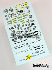 Virages: Logotypes 1/43 scale - Michelin - water slide decals