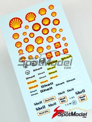 Virages: Logotypes 1/24 scale - Shell - water slide decals