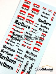 Virages: Logotypes 1/43 scale - Marlboro - water slide decals