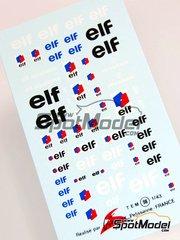 Virages: Logotypes 1/43 scale - ELF - water slide decals