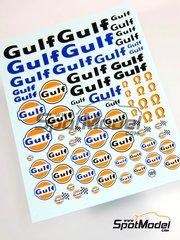 Virages: Logotipos escala 1/24 - Gulf - calcas de agua