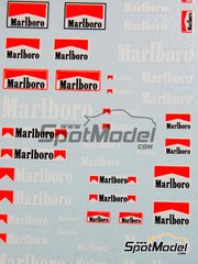 Virages: Logotypes 1/43 scale - Marlboro - Orange fluo - water slide decals