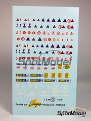 Virages: Decals 1/24 scale - Security logos and fire extinguishers  - water slide decals