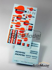 Virages: Logotypes - Repsol logos - Fluo - water slide decals