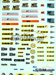 Virages: Logotypes - Magnetti Marelli, SEV Marchal, Cibie, Hella - water slide decals