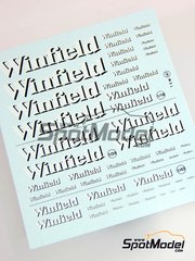 Virages: Logotypes 1/24 scale - Winfield - water slide decals