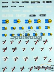Virages: Logotypes 1/24 scale - Koni, Bilstein - water slide decals