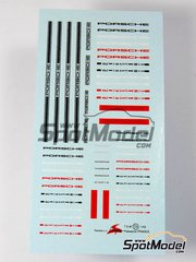 Virages: Logotypes 1/43 scale - Porsche - water slide decals