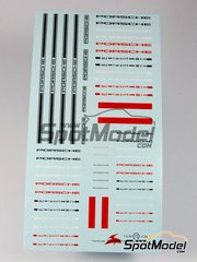 Virages: Logotypes 1/24 scale - Porsche - water slide decals