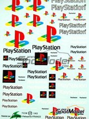 Virages: Logotypes 1/24 scale - PlayStation - water slide decals