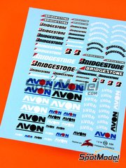 Virages: Logotypes 1/24 scale - Avon Bridgestone - water slide decals