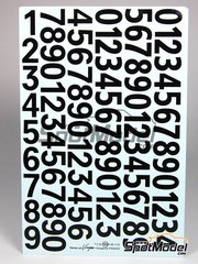 Virages: Decals - Black numbers