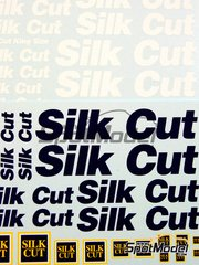 Virages: Logotipos escala 1/24 - Silk Cut - calcas de agua