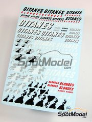 Virages: Logotypes 1/20 scale - Gitanes - water slide decals