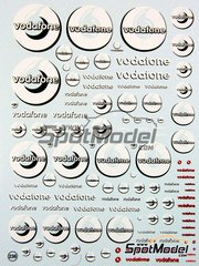 Virages: Logotypes 1/24 scale - Vodafone - water slide decals