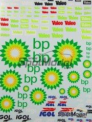 Virages: Logotypes 1/24 scale - Valeo, Igol, BP - water slide decals