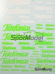 Virages: Logotypes - Telefonica - water slide decals